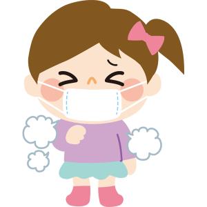 マスク咳の女の子
